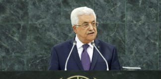 Mahmoud Abbas taler for FNs 68. generalforsamling, 26. september 2013. (Foto: Evan Schneider, UN Photo)