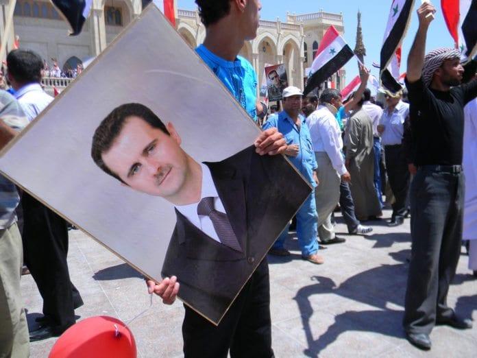 Støttedemonstrasjon for Syria-president Bashar Assad i 2010. (Illustrasjon: Beshr O, flickr.com)