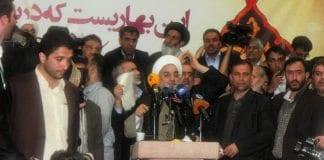 Irans president Hassan Rouhani under sin valgkamp i juni. (Foto: Wikimedia Commons)