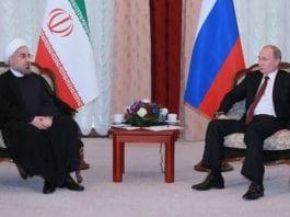 Iran-president Hassan Rouhani og Russlands president Vladimir Putin (Foto: Wikimedia Commons)