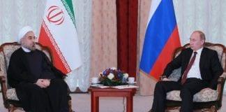 Irans president Hassan Rouhani i møte med Russlands president Vladimir 13. september 2013. (Illustrasjonsfoto: Pressekontoret til Russlands president)