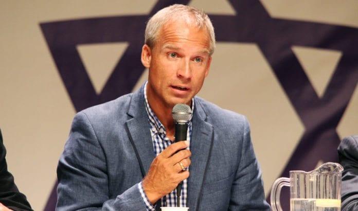 Hans Olav Syversen (KrF) på MIFFs Israel-debatt i Oslo 27. august 2013. (Foto: Atle Hansen)