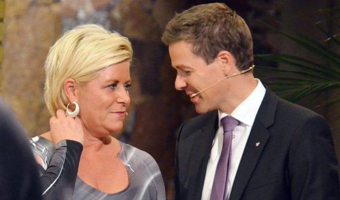Siv Jensen og Knut Arild Hareide leder partier som ønsker å føre en klart mer Israel-vennlig politikk enn de rødgrønne har gjort de siste åtte år. (Foto: Stortinget, flickr.com)