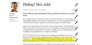 Skjermdump fra Verdidebatt.no, et innlegg som også stod på trykk i Vårt Land lørdag 28. september.