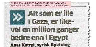 Faksmile fra Aftenposten 11. oktober 2013.