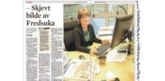 Faksmile av Dagens intervju med generalsekretær Berit Hagen Agøy i Mellomkirkelig råd 17. oktober 2013.