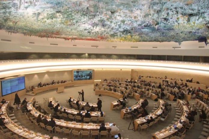 Plenumsalen til FNs menneskerettighetsråd i Geneve. (Foto: UN Photo Geneva, flickr.com)
