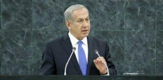 Israels statsminister Benjamin Netanyahu talte for FNs generalforsamling, 1. oktober 2013. (Foto: Evan Schneider, UN Photo)