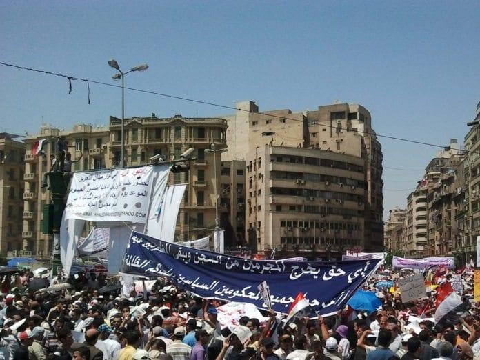 En av de mange demonstrasjonene på Tahrir-plassen i Kairo i 2011. (Illustrasjon: Muhammad Moneib, flickr.com)