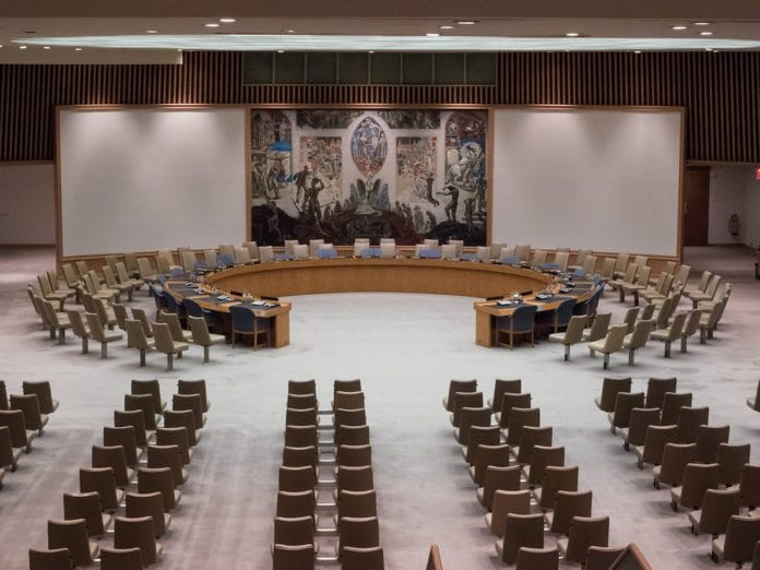 Sikkerhetsrådets plenumsal (Foto: michellerlee, flickr.com)