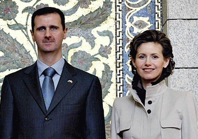 Bashar og Asma Assad. (Arkivfoto)