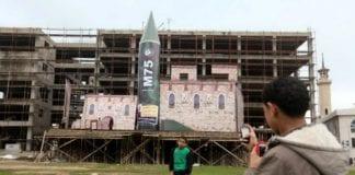 Bilder fra det offisielle nyhetsbyrået til Hamas viser forberedelser til bevegelsens 25-årsfeiring i desember 2012. Hamas, som styrer Gaza-stripen, viste fram våpen som de har avfyrt mot sivile israelere. (Foto: The Israel Project, flickr.com)