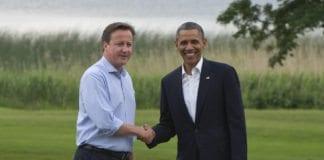 For at iranerne skal få mest mulig ut av atomforhandlingene, er målet å splitte disse to: Storbritannias statsminister David Cameron (f.v.) og USAs president Barack Obama. Bildet er tatt under G8-møtet tidligere i år. (Foto: G8 UK, flickr.com)