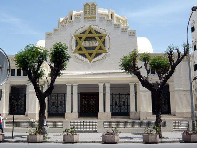 Den jødiske synagogen i Tunis. (Foto: Wikimedia Commons)