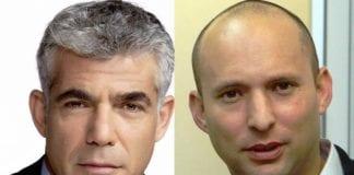 Yair Lapid og Naftali Bennett. (Arkivfoto)