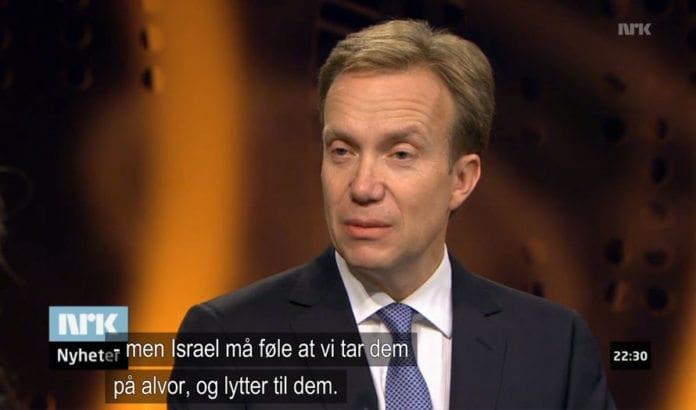 Utenriksminister Børge Brende på Urix 16. oktober 2013. (Skjermdump fra Nrk.no)