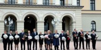 En betydelig andel av statsrådene og statssekretærene i Erna Solbergs regjering har markert seg som Israel-venner. (Foto: Erlend Aas/NTB scanpix/SMK)