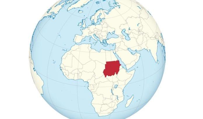 Sudan på verdenskartet. (Kart: Wikimedia Commons)