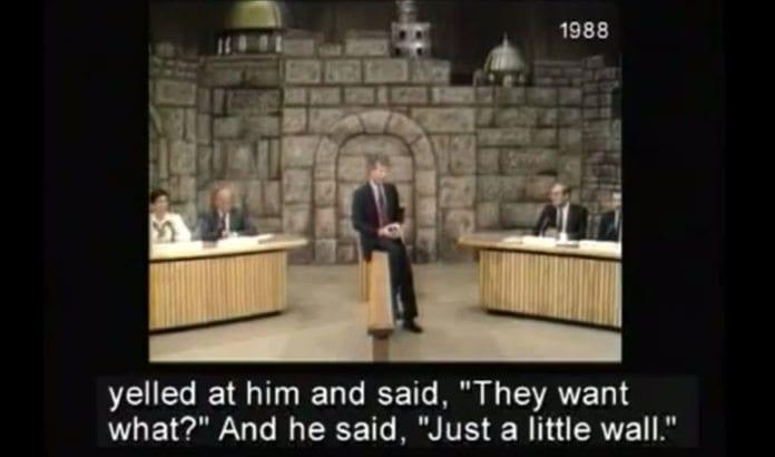 Ted Koppel gjenforteller hvordan palestinerne krevde en mur i tv-studio i 1988.