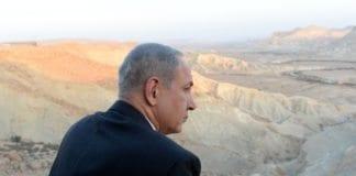 Statsminister Benjamin Netanyahu på besøk i kibbutz Sde Boker i Negev-ørkenen. (Foto: Kobi Gideon, Prime Minister of Israel, flickr.com)