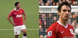 Manchester United-legende Ryan Giggs (f.v.) og Gary Neville (Foto: Wikimedia Commons)