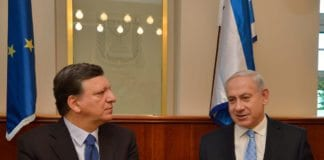 EU-president José Manuel Barroso og Israels statsminister Benjamin Netanyahu (Illustrasjon: European External Action Service, flickr.com)