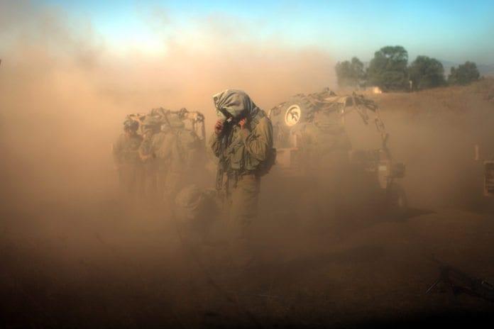 Militærøvelse på Golan (Illustrasjon: Abir Sultan, Israel Defense Forces, flickr.com)