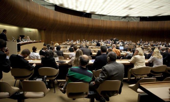 Menneskerettighetsrådet samlet i FN-bygningen i Geneve (Foto: United States Mission Geneva, flickr.com)