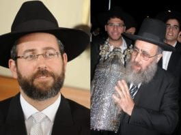 F.v.: Sjefsrabbiner for ashkenazi-jødene David Lau og sjefsrabbiner for sefardi-jødene Yitzhak Yosef (Foto: Wikimedia Commons og Roman Rice, flickr.com)