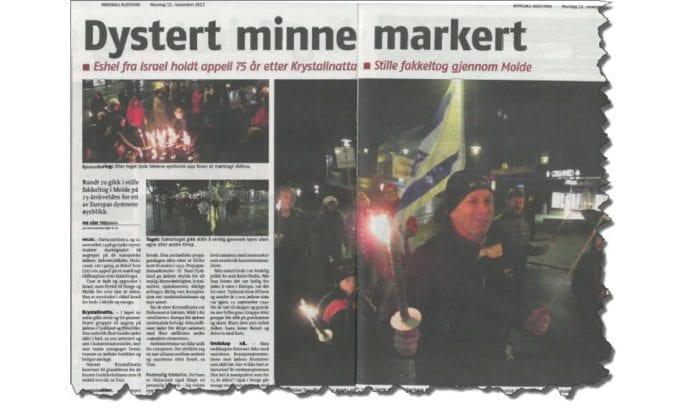 Faksmile av Romsdals Budstikke 11. november 2013.