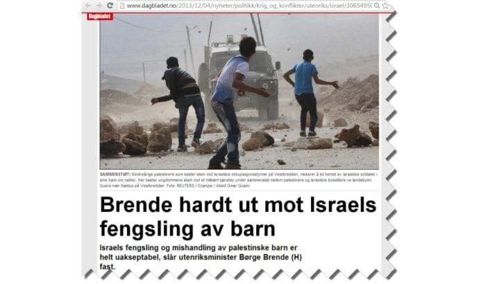 Skjermdump fra Dagbladet.no, artikkel publisert 4. desember 2013.