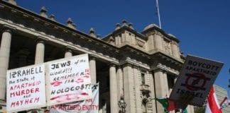 Anti-israelsk boikottaksjon i Melbourne, Australia. (Illustrasjon: Takver, flickr.com)