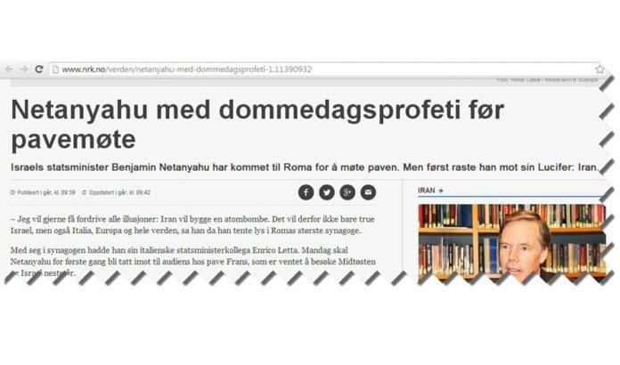Skjermdump fra Nrk.no før NTBs overskrift og ingress ble endret.