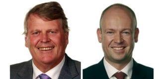 Hans Fredrik Grøvan (KrF) og Jørund Rytman (FrP) veksler på ledervervet i Israels venner på Stortinget, først Grøvan i to år, deretter Rytman i to år. Når Grøvan er leder er Rytman nestleder og omvendt. (Foto: Stortinget)