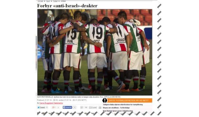 Skjermdump fra VG Nett 23. januar 2014.