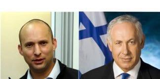 Økonomi- og handelsminister Naftali Bennett og statsminister Benjamin Netanyahu er dypt uenige om løsningen på bosettingsspørsmålet. Foto: Wikipedia og Twitter.
