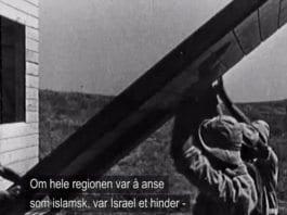 Det muslimske brorskapet og deres palestinske avlegger Hamas kjemper en religiøs krig mot Israel, der den minste jødiske stat blir et hinder for opprettelsen av et muslimsk kalifat i området. (Skjermdump fra dokumentaren om Det muslimske brorskapet, sendt på Nrk 21. januar 2014)