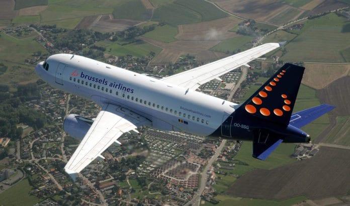 Brussels Airlines bruker flytypen Airbus 319 på ruten til Tel Aviv. (Foto: Brussels Airlines)