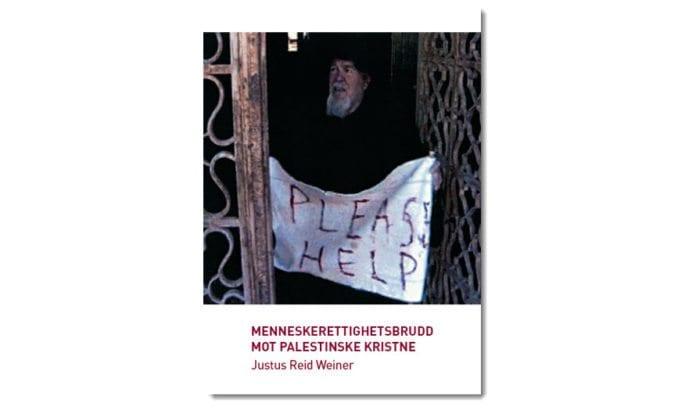 Forsiden til boken. En armensk prest blir holdt som gissel av militante muslimer i Fødselskirken i Betlehem i 2002. (Foto: GPO)