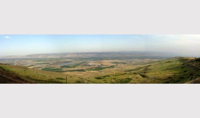 Panoramabilde av Jordan-dalen. (Foto: Юкатан, Wikimedia Commons)