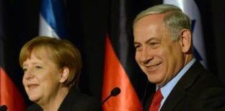 Angela Merkel og Benjamin Netanyahu møtte pressen sammen i dag. Foto: GPO.