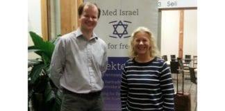 Astrid Salvesen Shwartz er nyvalgt leder i MIFF Lister. Her sammen med Conrad Myrland, daglig leder i MIFF. (Foto: Gerd Gräntz Strandmoen)