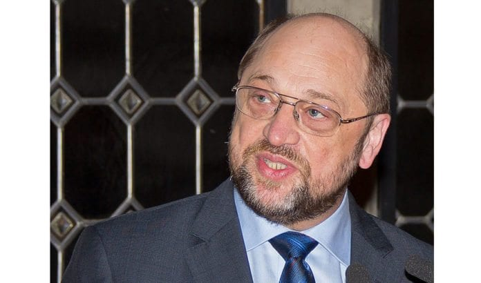 Europaparlamentets president Martin Schultz talte i Knesset onsdag. Foto: Wikimedia Commons.