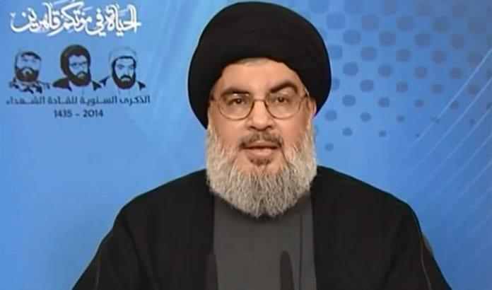 Hizbollahs leder Hassan Nasrallah antyder at han forbereder nye angrep mot Israel. Foto: Skjermdump fra Youtube.