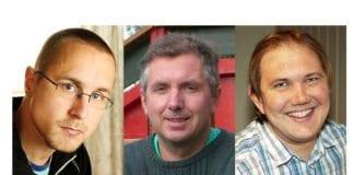 Fra venstre: Kenneth O. Bakken, Geir Knutsen, Tor-Bjørn Nordgaard. (Foto: Privat)
