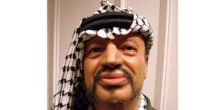 Yasser Arafat som voksdukke i Madame Tussauds i London. (Arkivfoto: Conrad Myrland, MIFF)