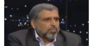 Ramadan Shalah, generalsekretær i Islamsk Jihad. (Skjermdump fra YouTube)