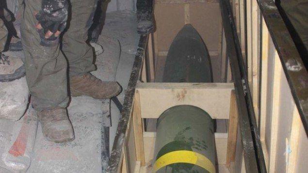 Bildet viser en av rakettene som ble funnet ombord i skipet, ifølge IDF. (Foto: IDF)