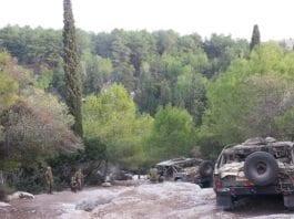Israelske tropper patruljerer uoversiktlige områder på Golan-høydene. Foto: IDF/Flickr.