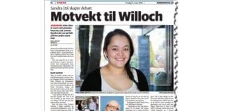 Faksmile fra Romerikes Blad 14. mars 2014.